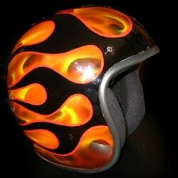 CASCO JET CUSTOM RETRO AEROGRAFIADO